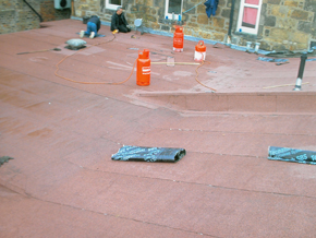 Replacement flat garage roof